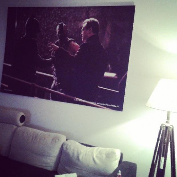 Fotka od Ferdika. Primo z nekdejsi premiery na zed do Holesovic!