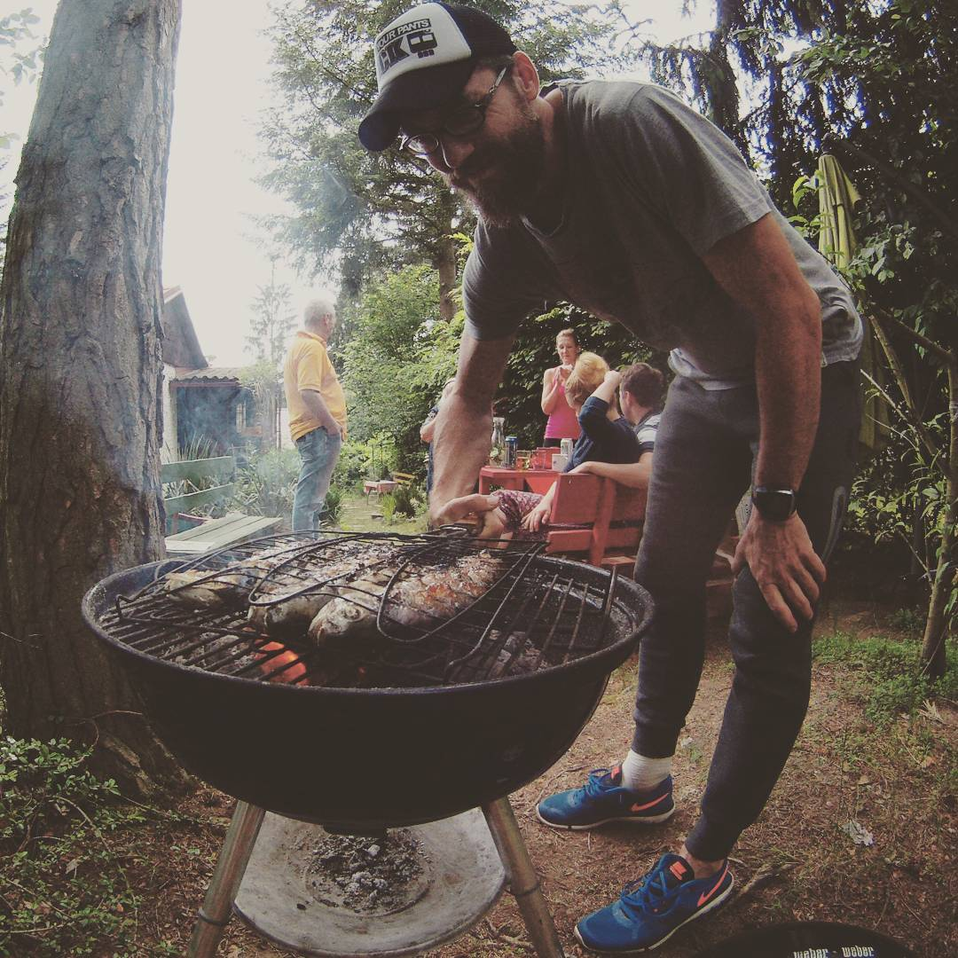 Fotka od Ferdika. 150/366: Celebrating #birthday with #family and doing what I do best: grilled #trout. #sun, #fish, #grilledfish, #slapy, #gopro, #goprohero, #bestoftheday, #photooftheday, #pictureoftheday