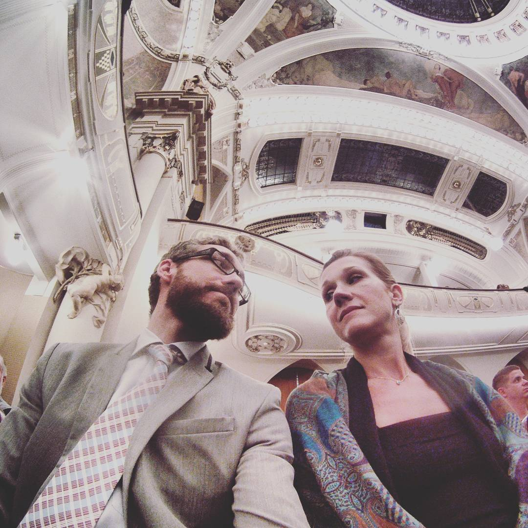 Fotka od Ferdika. 173/366:#Pragueproms is starting!#Mnozilbrass #concert tonight in #obecnidumpraha was absolutely original. With @verunkavalent. #music, #festival, #jazz,#classicalmusic,#gopro, #goprohero, #bestoftheday, #photooftheday