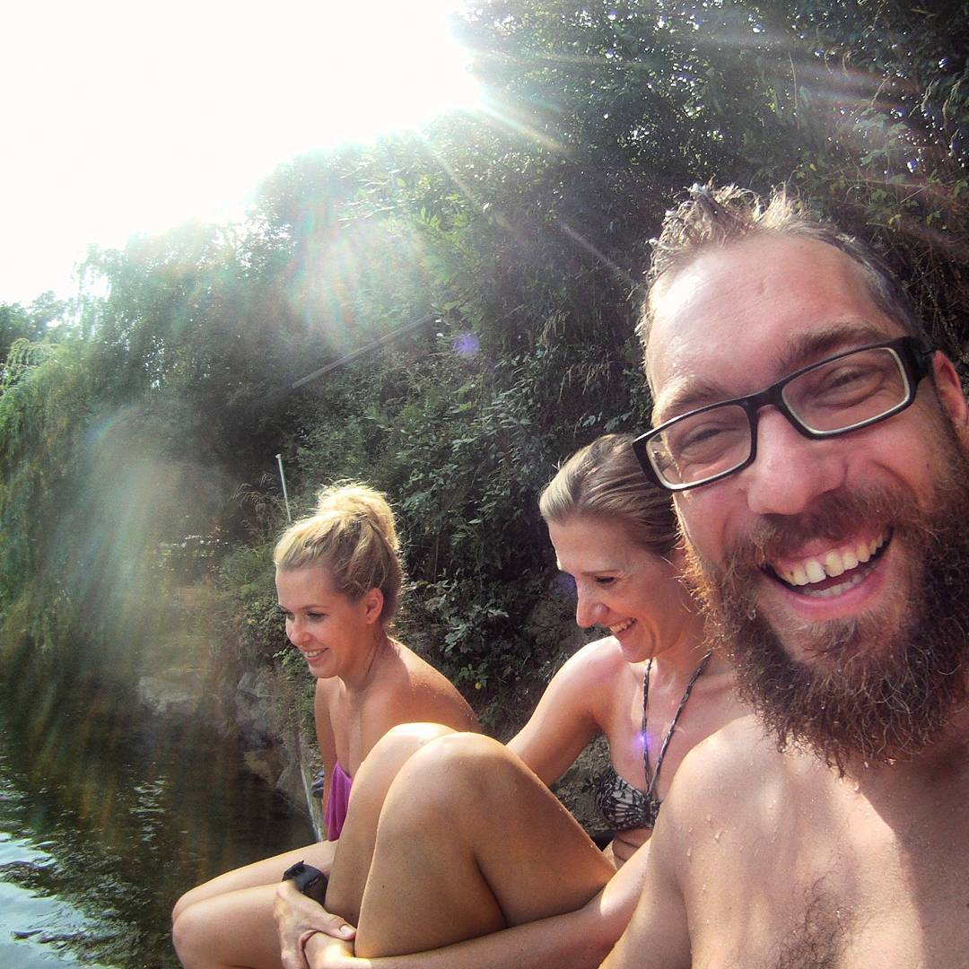 Fotka od Ferdika. 205/366: #family time in #slapy, #bbq, #swimming & #petanque. @verunkavalent, @cimplova