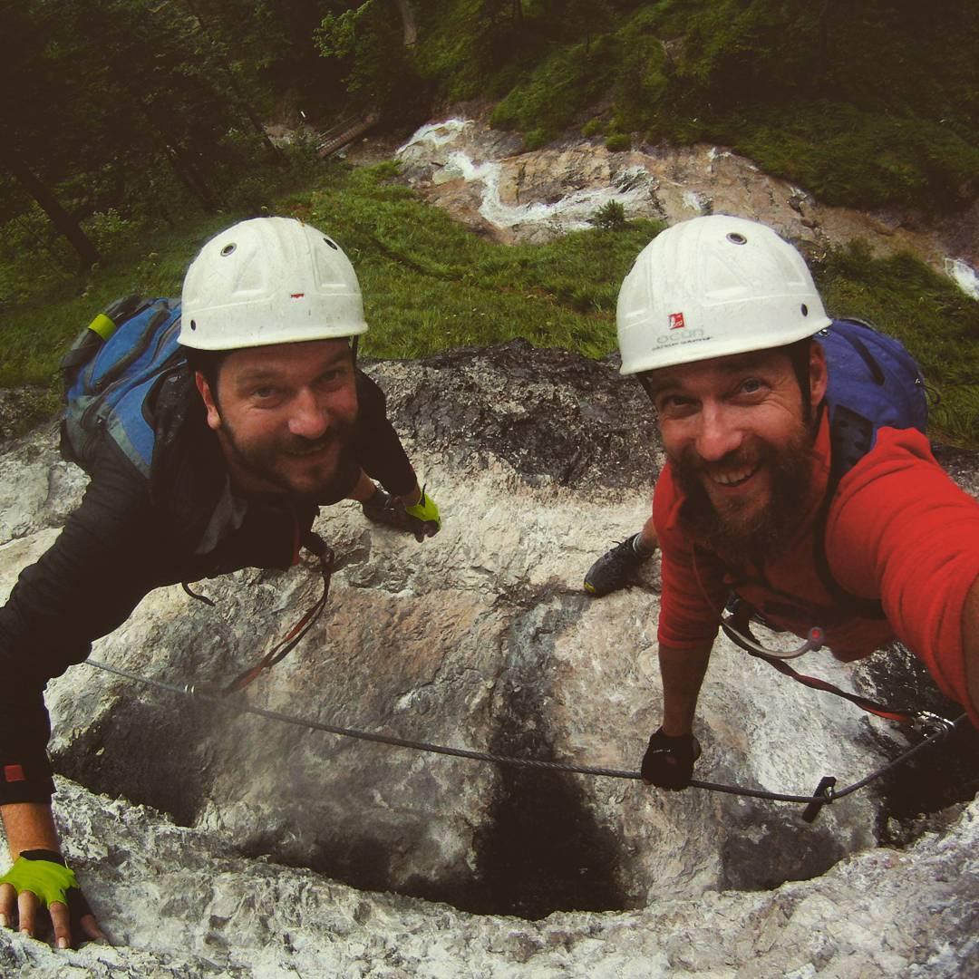 Fotka od Ferdika. 225/366: Lets do some #climbing. With @tominopek. #klettern,#ferrata,#gopro, #goprohero, #bestoftheday, #photooftheday, #picoftheday