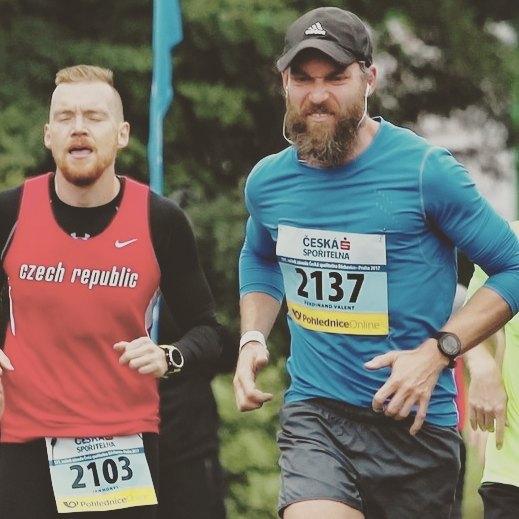 Fotka od Ferdika. #Running is not a #figureskating. #nosmile, #bechovice, #race, #run, #roadrace