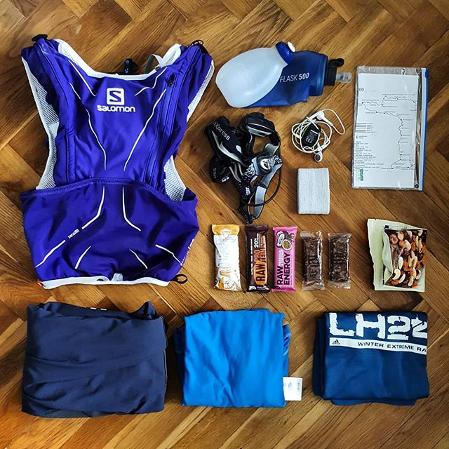 What you need for 100k race? Well, not much.  #krakonosova100, #krakonosovastovka, #ultratrail, #ultra, #ultrarun, #run, #trail, #krkonose, #mountains, #hills, #elevation, #gain, #nature, #runner, #ultrarace, #salomon, #salomonrunning