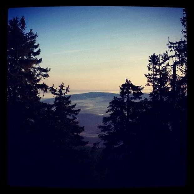Fotka od Ferdika. Good morning from #Bobik, #Sumava. Nice #trail 17k, 500m+. #sunrise