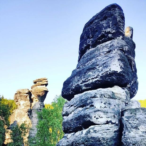 Good morning from #decinskysneznik  peak (723m) and #labskepiskovce area. #run, #trailrunning, #fellrunning, #training, #elevation, #nature, #trail, #czechnature, #tisa, #ostrov, #sneznik